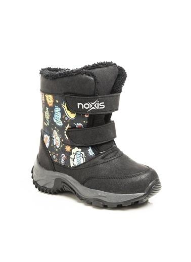 Noxis Noxis Pop-art Unisex Çocuk Kışlık İçi Kürklü Kar Botu Siyah